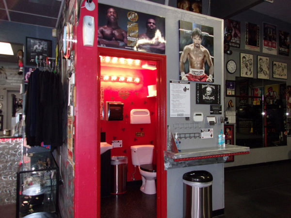 IronGloves Boxing Bathroom