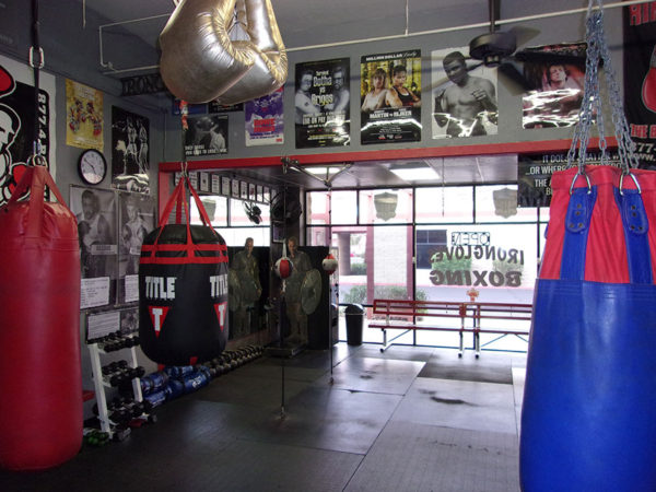IronGloves Boxing Gym Interior Looking Out