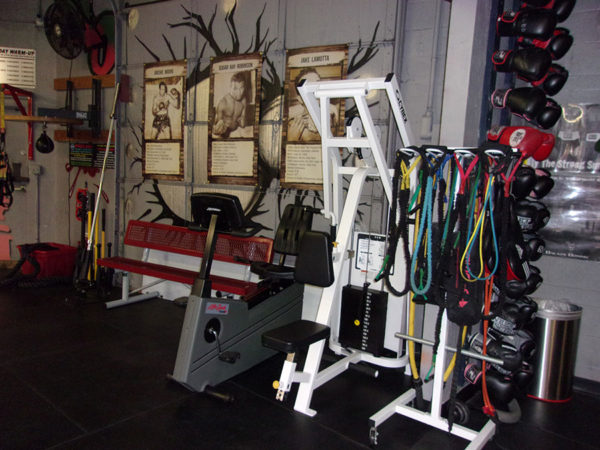 IronGloves Boxing Gym Interior Machines
