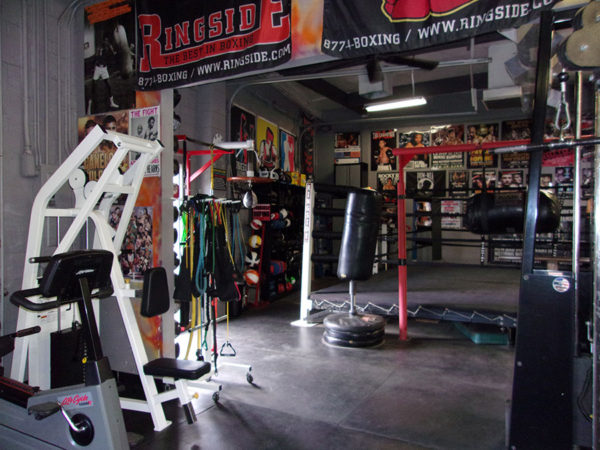 IronGloves Boxing Gym Interior Ringside