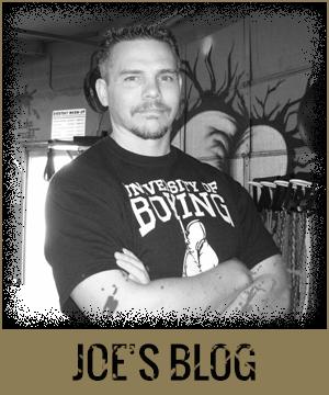 Joe's Corner Boxing Blog